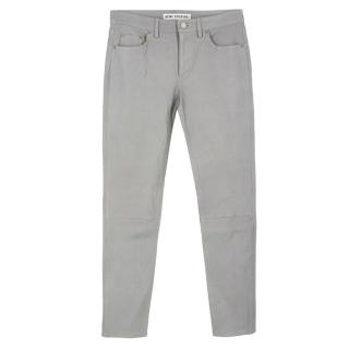Acne Grey Leather Trousers