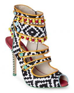 Sophia Webster multi coloured canvas sandals