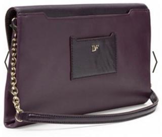 Brand New DVF Purple Shoulder/Clutch Bag