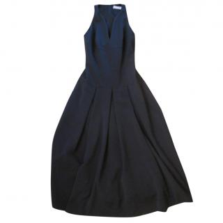 Amanda Wakeley Blue Pleated Midi Dress