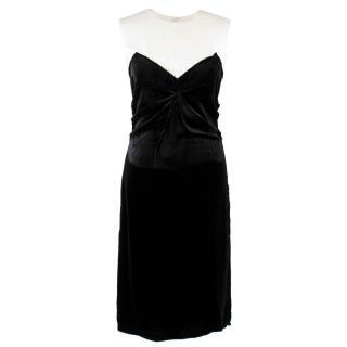 Prada Velvet and Silk Midi Dress