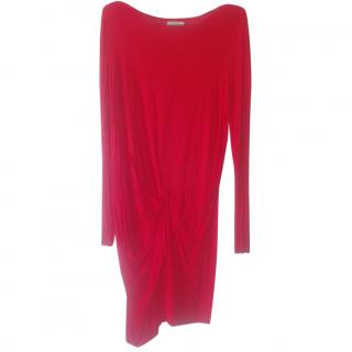 marlene birger coral jersey drapped dress
