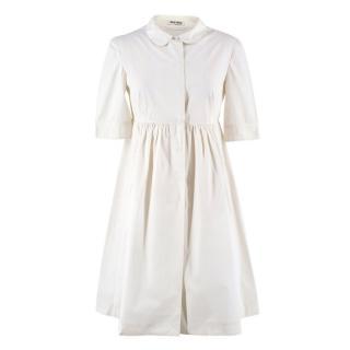 Miu Miu White Shirt Dress