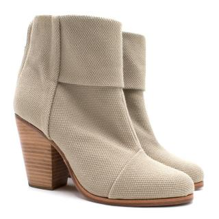 Rag & Bone Beige Canvas Ankle Boots