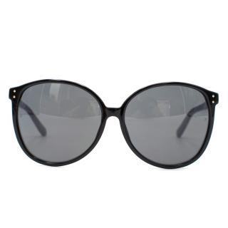 Linda Farrow Blue Oversized Sunglasses