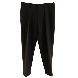 McQ by Alexander McQueen Black Pleated Trousers