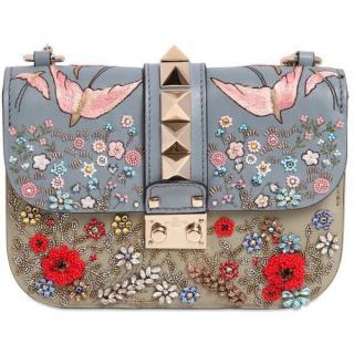 Valentino 'rockstud Lock' Small Embellished Garden Bag