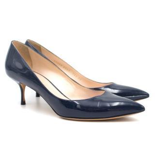 Casadei Patent Leather Kitten Heels