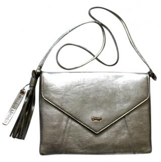 Paul Costelloe Silver Leather Crossbody Bag