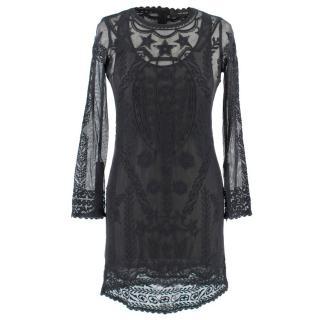 Isabel Marant Silk Sheer Lace Dress