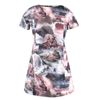 Carven Abstract Landscape Dress
