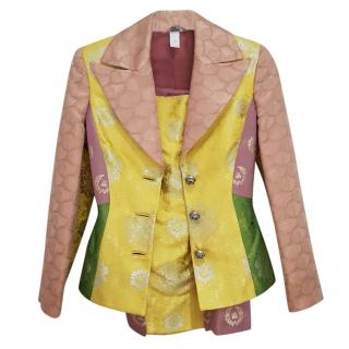 Versace Couture vintage Venetian silk suit
