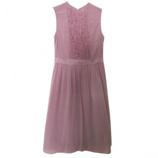 Burberry London pink silk dress, size 8