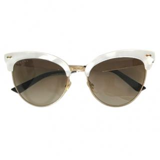 Gucci mother of pearl cateye sunglasses
