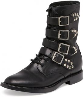Saint Laurent Ranger Studded Motorcycle Boot