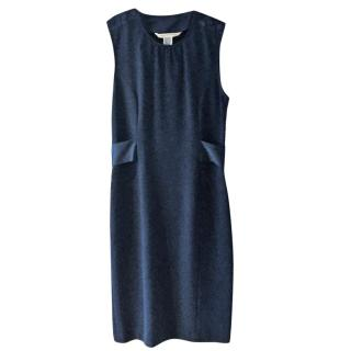 Diane von Furstenberg Sleeveless Blue Wool Dress