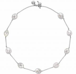 Dower & Hall Baroque Pearl Chain Sterling Silver
