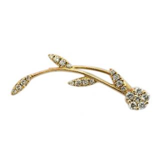 Djula Gold and diamond single flower earring