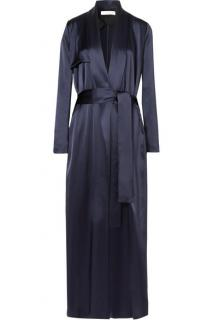 Galvan Navy Silk Duster Coat - Current Season