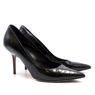 Burberry Black Patent Leather Heels