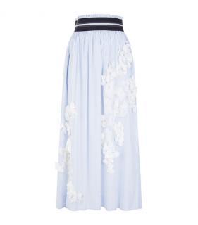Les Copains Floral Appliqu� Midi Skirt
