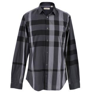 Burberry Grey Checked Shirt