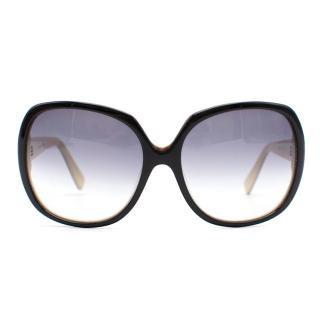 Dita Black Oversized Cateye Sunglasses