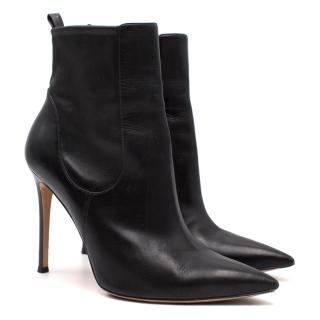 Gianvito Rossi Stiletto Leather Sock Boots