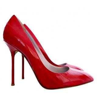 Sergio Rossi Red Stiletto Pumps