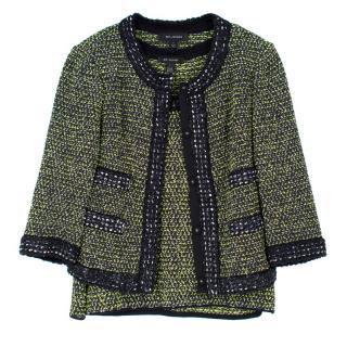 St. John Wool-Blend Top and Jacket Set