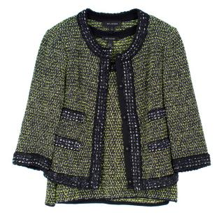 St. John Wool-Blend Top and Jacket Set