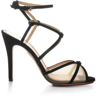 Charlotte Olympia Isadora Suede and Mesh Sandals