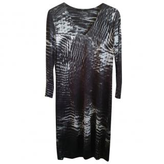 Gucci Tom Ford black signature tie dye dress