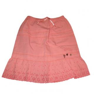 Miniman Peach tiered skirt
