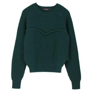 Isabel Marant Dark Green Wool Jumper
