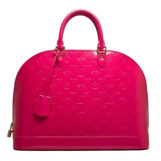 Louis Vuitton Rose Pop Alma Monogram Vernis Bag