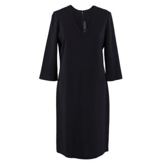 St. John Black Knit Dress