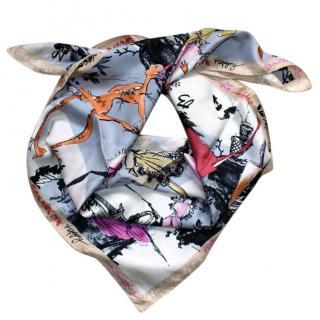 Christian Lacroix 20th Anniversary silk scarf
