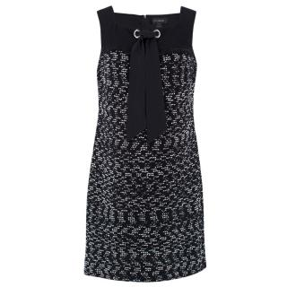 St. John Sleeveless Knit Lace-up Dress