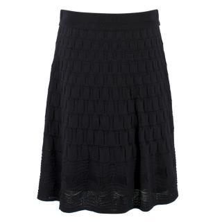 M Missoni Black Textured Skirt