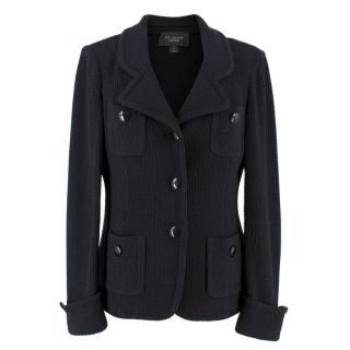St John Caviar Black Wool Jacket