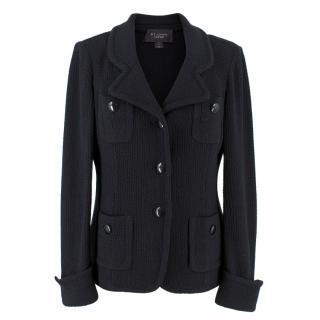 St John Caviar Black Wool Jacket