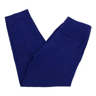 Tom Ford Blue Silk Straight Leg Trousers