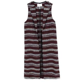 BCBGeneration Sleeveless Striped Waistcoat