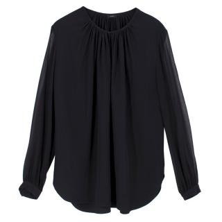 Joseph Black Silk Blouse