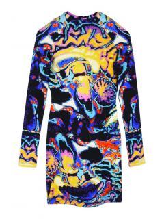 Christopher Kane brain scan print stretch-jersey mini dress