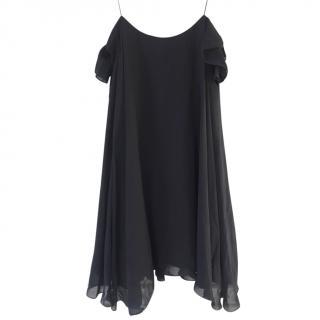 Saint Laurent black silk dress