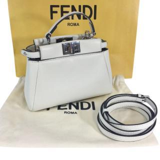 FENDI Cream Micro Peekaboo Bag