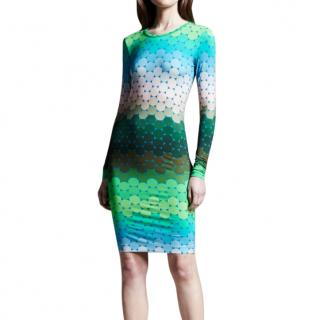 Jonathan Saunders Ombre Long Sleeve Dress