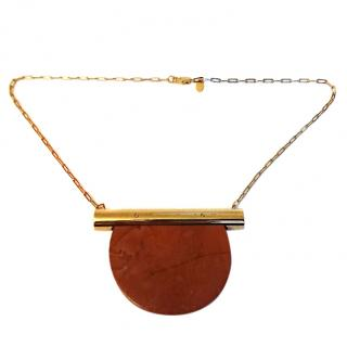 Marion Vidal Red Marble Joly Necklace